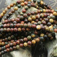 Natural Creek Jasper 6 MM Gemstone Beads//Loose