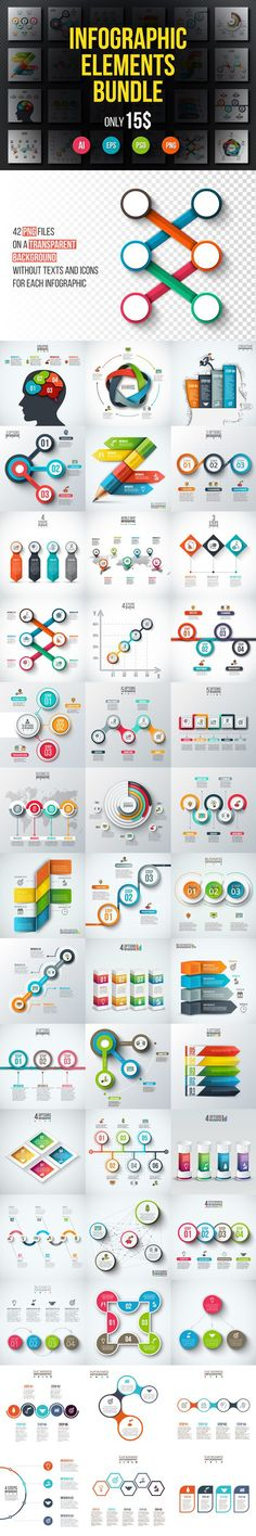 65% OFF Bundle Infographic Elements. Graphic Design Infographics. $15.00
