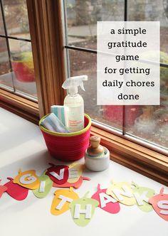 Preventing Entitlement: A Gratitude Chore Game - Modern Parents Messy Kids