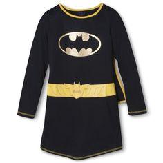 Large for Madison BatGirl Girls' Nightgown - Black