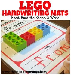 Does your child think that the lines on the handwriting paper are just suggestions, like my Kindergartner? Then, these DUPLO and LEGO brick Handwriting Mats might just do the trick! Students place the sight word card in the Read spot at the top, use DUPLO or LEGO bricks to build the shape of each word, then they use the shape of the word to help spell the sight word with the correct letter formation (tall letters, short letters, and letters with tails.Included in this Handwriting Pack*6…