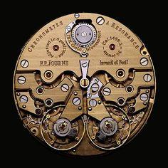 Guido Mocafico, 'Journe, Chronometre a Résonance,' Hamiltons Gallery Cool Watches, Watches For Men, Skeleton Clock, Steampunk, Mechanical Art, Apple Watch Faces, Patek Philippe, Antique Clocks, Vintage Labels