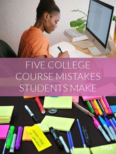 Are you a new college student looking to make the right decisions during your college career? Here are five mistakes college students make when it comes to academics and the courses they take. College Club, College Success, New College, College Life, College Packing, College Survival, College Hacks, Study Skills, Study Tips