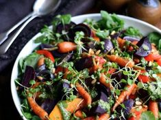 Winter Salad Recipes, Vegetarian Salad Recipes, Salad Recipes Video, Salad Recipes For Dinner, Healthy Pasta Recipes, Chicken Salad Recipes, Cooking Recipes, Healthy Fruits, Healthy Foods To Eat