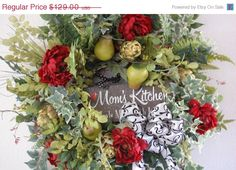 Kitchen Wreath by HangingTouches on Etsy, $77.40