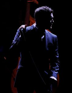 Singer Michael Buble performs at the Staples Center on April 9, 2010 in Los Angeles, California.