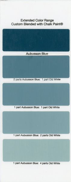 Chalk Paint® Sample Board Colors- all in a row......THE PURPLE PAINTED LADY...Great site for 'how to's'...color samples, etc.