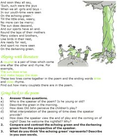 william blakes the echoing green essay Find william blake lesson plans and worksheets showing 1 - 39 of 39 resources  students consider the content and themes of william blake's the lamb as they respond to 6 short answer and essay questions based on the poem  examine william blake's the echoing green and its message about youth learners read the poem and then respond to.