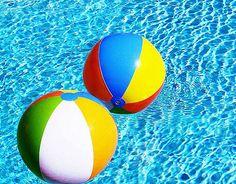 Beach balls and swimming pools!