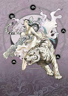Divine Creature 3- White Tiger by daxiong.deviantart.com