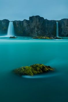 Waterfall of the Gods, Iceland // blue water // natural wonders // europe // mist // paradise // exotic travel destinations // dream vacations // places to go
