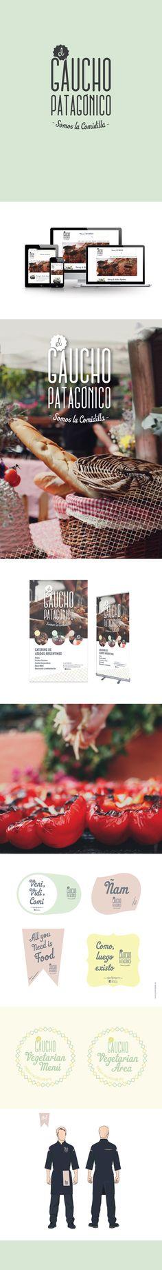 Branding. Identidad y aplicaciones digitales, editoriales, de uniformidad y marcaje. http://www.elgauchopatagonico.com