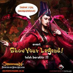 Hai Swordsmania!!  Event Show Your Legend sudah berakhir!! Nah, mimin sudah memilih 20 pemenang nih.. Ayo coba lihat disini : http://goo.gl/pbcqvq  Selamat bagi para pemenang dan tetap ajak teman-temanmu untuk bermain di Swordsman Online Indonesia!!