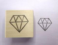 Diamond stamp Wedding invitation Rubber by JapaneseRubberStamps