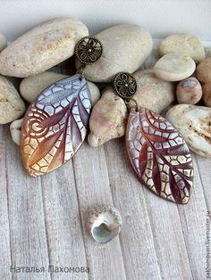 Купить Серьги украшение из полимерной глины Золотая осень. - серьги из полимерной глин, сережки