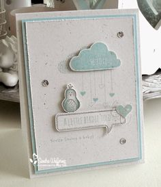 Made by Sandra - gorgeous baby card using the Hello Love stamp set from Stampin' Up!