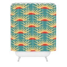 Belle13 Sunrise Shower Curtain | DENY Designs Home Accessories