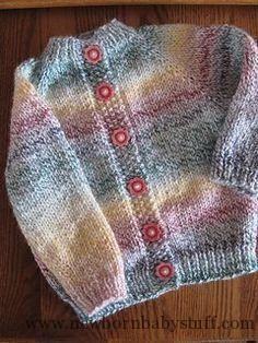 Baby Knitting Patterns Baby Cardigan by Joy Jannotti, free pattern on Ravelry. Knit...