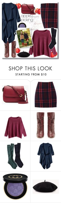 """""""apple picking 2"""" by giada2017 ❤ liked on Polyvore featuring J.Crew, Oasis, Malone Souliers and Gucci"""