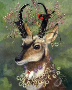 Original paintings and greeting cards by Carolyn Schmitz. Whimsical art exploring the fluid and permeable boundary between humans and animals and plants. Art Prints, Animal Art, Art Images, Fantasy Art, Painting, Whimsical Art, Illustration Art, Art, Animal Paintings