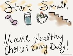 Start Small, make healthy choices every day!