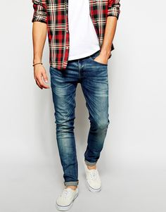 jeans, plaid men's style, fashion, menswear