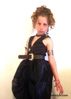 Toddler halloween costume, halloween witch, Girl pirate costume, Magician costume, Black tulle, black vest, size 3- for girls in the age 3-4 - http://evilstyle.com/toddler-halloween-costume-halloween-witch-girl-pirate-costume-magician-costume-black-tulle-black-vest-size-3-for-girls-in-the-age-3-4