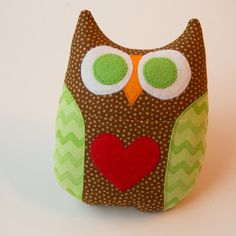 Personalized Owl Tooth Fairy Pillow  Brown