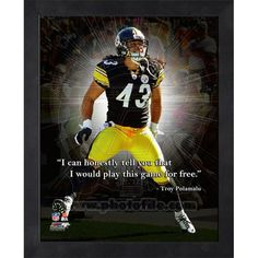 6f8321ed573 Troy Polamalu Pittsburgh Steelers Pro Quotes Photo (Size  x Framed
