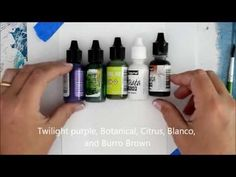 How to paint Lilacs Online Painting Course, Easy, Beginner, Alcohol Ink on Yupo Paper - YouTube