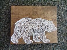 Bear String Art Grizzly Bear String Art Cabin Decor