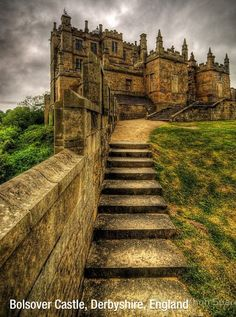 Bolsover Castle, England  I think it would be so neat to go on a castle tour in Europe one day. ;)