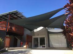 Gallery - Superior Shade Sails - Brisbane, Gold Coast install and repair sails servicing Ipswich, Brisbane CBD, Sunshine Coast and Brisbane Southside Carport Shade, Deck Shade, Sun Sail Shade, Shade Sails, Garden Sail, Fence Garden, Shade Sail Installation, Dog Yard, Pergola