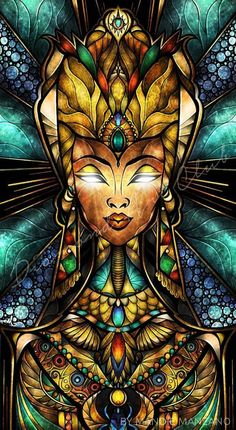 Ancient Egypt Digital Art - Nefertiti by Mandie Manzano African American Art, African Art, Dope Kunst, Egypt Art, Black Artwork, Wow Art, Diamond Art, Diamond Rings, Visionary Art