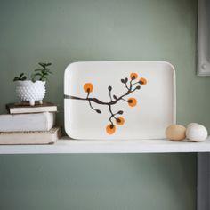 Lotta Jansdotter Orange and Gray Tray