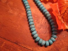 Handcrafted Turquoise Beaded Necklace Blue by canyonviewjewelry, $45.00