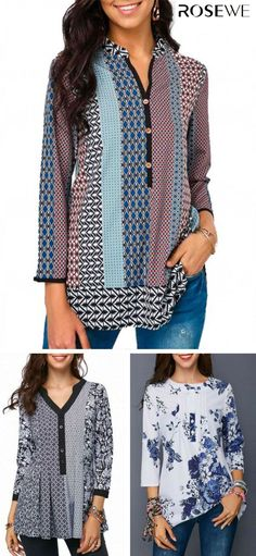 2a47e87f64485 Fall blouses cute for women at Rosewe.com