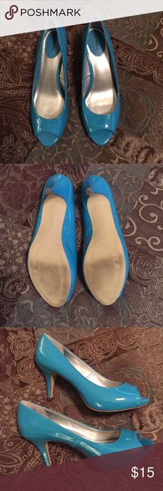 "Xappeal Peep Toe Heels Xappeal- Teal peep toe heels.  Heel approximately 3"".  Excellent condition. Only worn twice. Xappeal Shoes Heels"