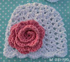 Lacy Crochet Baby Beanie~ Free pattern