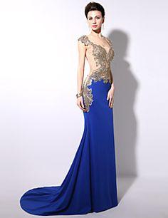 Royal Blue Trumpet/Mermaid Floor-length Formal Evening Dress – USD $ 179.99