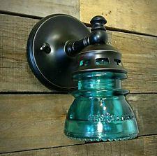 LED Glass Sconce INSULATOR LIGHTS Vintage Glass Wall Lighting Bathroom Lights