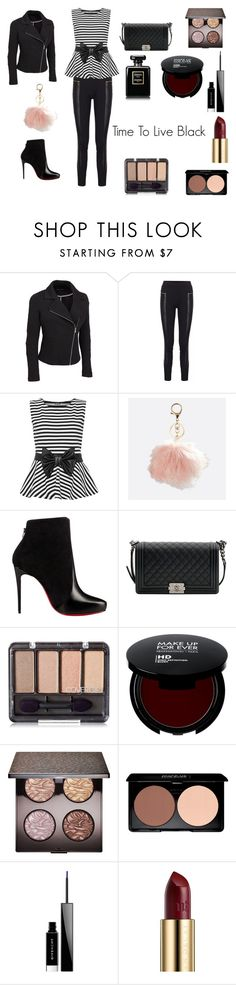 """Time To Live Black"" by hollythehippo on Polyvore featuring WearAll, Avenue, Christian Louboutin, Chanel, Laura Mercier, Givenchy, Urban Decay and plus size clothing"