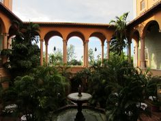 Interior courtyard at the Biltmore Hotel, a National Historic Landmark located in Coral Gables