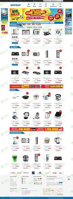 Web Bán Hàng - Lĩnh vực: Bán hàng bếp - Mẫu 037