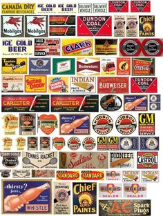 Vintage Tin Signs, Vintage Tins, Vintage Labels, Antique Signs, Ice Beer, Model Train Layouts, Old Signs, Free Sign, Advertising Signs