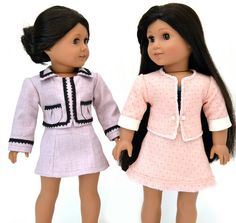 Next pattern design - a Chanel inspired suit for American Girl dolls by Dollhouse Designs