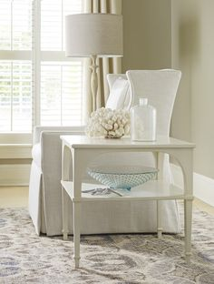 Bellport Bay End Table with Shelf | Cottage & Bungalow