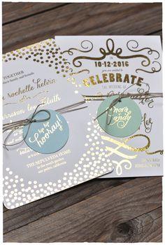 Gold Foil Invitations - Decadent, stylish and glamorous wedding inspiration, glitz and glamour, winter wedding Smith My Wedding Wedding Paper, Gold Wedding, Wedding Cards, Rustic Wedding, Wedding Ceremony, Green Wedding, Wedding Shoes, Invitation Design, Invitation Cards