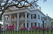 Stanton Hall occupies an entire city block in the historic district of Natchez. The famous Carriage House Restaurant is located on the grounds of the home; famous for it's Southern dishes