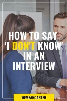 If you're faced with a question you don't know the answer to in an interview, don't panic! These 11 tips will help you salvage your interview. College Interview Questions, Interview Questions And Answers, Job Interview Tips, Job Interviews, Job Hunting Tips, Cover Letter Tips, Job Info, Job Search Tips, Job Resume